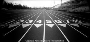 PL06713-00...WASHINGTON - Running track. Holga pinhole image.